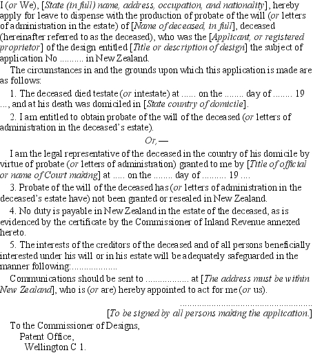 letters of administration application form nz