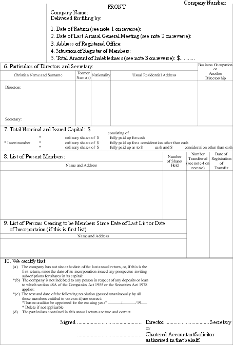 Companies (Annual Return Forms) Notice 1983 (SR 1983/293) (as at ...
