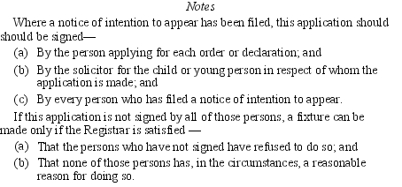 Children young persons and their families rules 1989 sr 1989 295