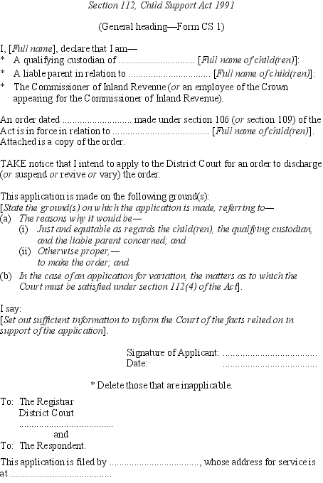 Child Support Rules 1992 SR 199258 as at 03 September 2007 – Employee Declaration Form
