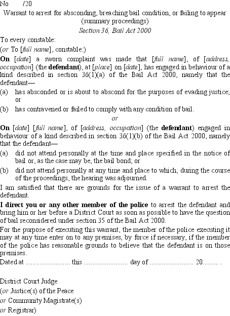 what does warrant absconded mean