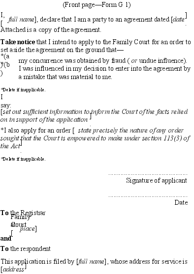 newmarket family court how to take out order