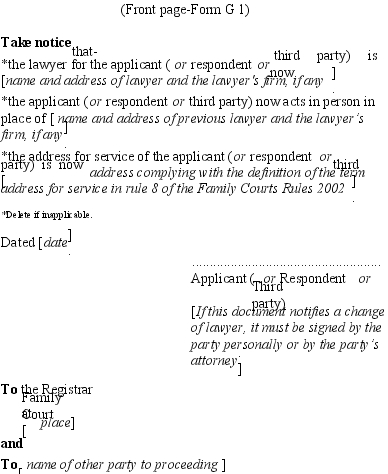 affidavits sworn to or affirmed by third parties i 751 family courts 2002 sr 2002 261 as at 26 september 19986
