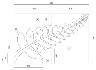 new zealand flag referendums first flag referendum amendment order Fern Leaf Parts technical diagram showing the measurements required for accurate construction of the silver fern black and